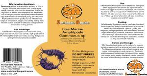Hawaiian Amphipod Label